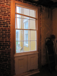 inside view of jib window replicated by Welch Millwork and Design