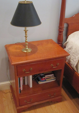 nightstand from front, constructed by Welch Millwork and Design